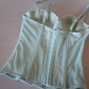 Forever 21 Intimates & Sleepwear - Forever 21 Mint Green Eyelet Lace Bustier Size M